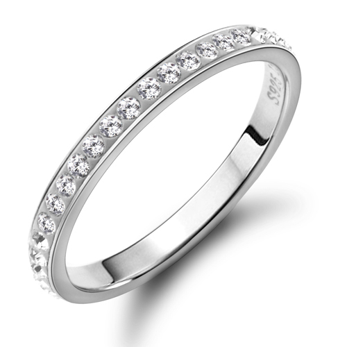 925 Stamp Pure Silver Rings For Women Fashion Jewelry Imitation Diamond Setting Female