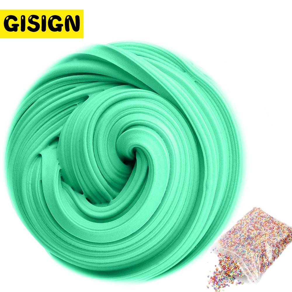 3D Fluffy Foam Clay Slime DIY Soft Cotton Slime Ball Kit Air Dry Clay Lizun Charms Light Plasticine Antistress Kids Toys(China)