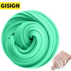 3D espuma mullida arcilla Slime DIY suave algodón pelota de Baba Kit aire seco arcilla Lizun encantos luz plastilina antiestrés niños Juguetes