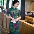 New Arrival Silk Satin Long Cheongsam Fashion Chinese Style Women's Dress Elegant Qipao Vestidos Size S M L XL XXL XXXL 216046