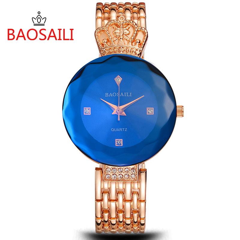 Prix pour Or New Horloge or Mode Femmes montre plein or En Acier Inoxydable montres À Quartz Montre-Bracelet En Gros montre En Or Femmes BS012