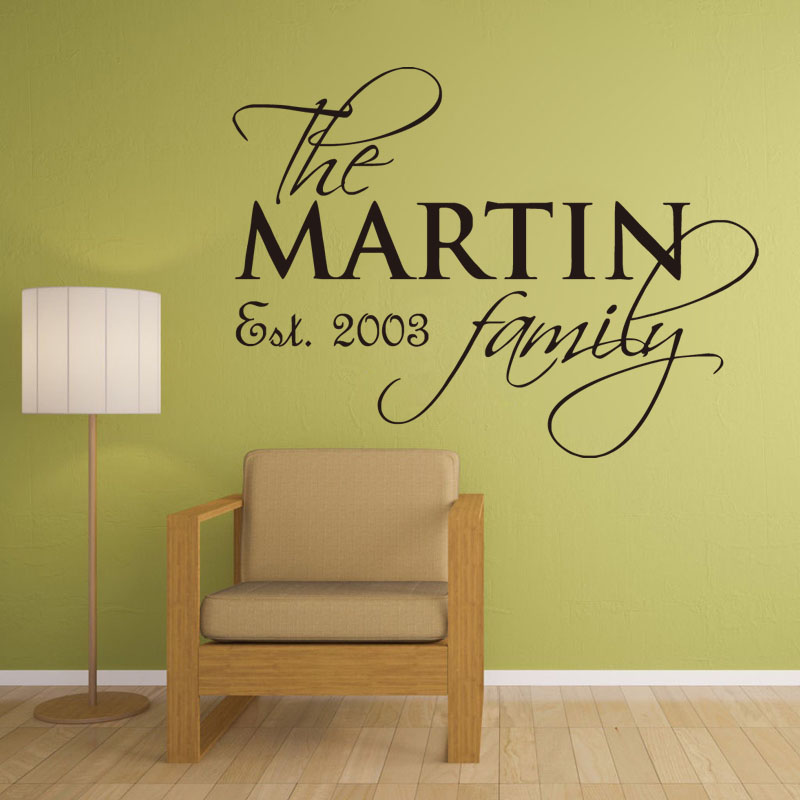 Custom Name Family Est Personalized Vinyl Wall Decals Removable Fashion Home Decor Accessories For Living Room In Stickers From Garden On