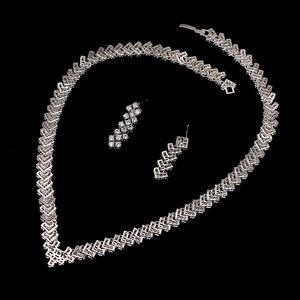 Image 5 - Emmaya New Zircon Crystal Rhinestone Stone Earrings Necklace Jewelry Set Wedding Party New Women Free Shipping