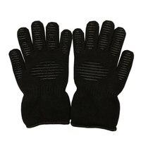 High Temperature Weld Anti Cut Waterproof Fireproof Work Gloves Safety Construction Latex Mechanics Antistatic Black Gloves