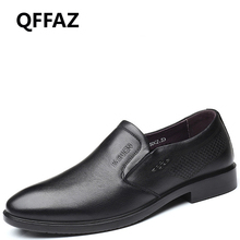 QFFAZ shoes men genuine leather Men Casual Shoes Fashion Driving men shoes Slip On leather loafer men Flats sapato masculino