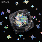1box Holographic Octagonal Star Glitter Mixes Hollow Star Nail Sequins Cross Star Glitters Nail Art Decorations