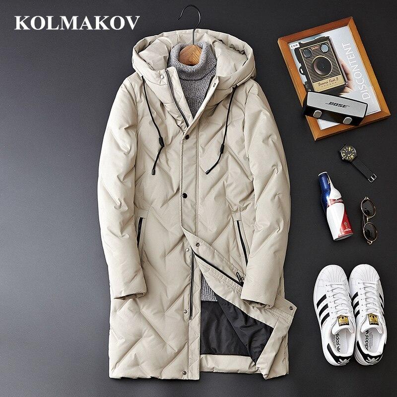KOLMAKOV 2018 Men's Winter Coats Top Quality 85% White Duck Down Jackets Men M-3XL High Quality Casual Thicken Jackets Coats Man