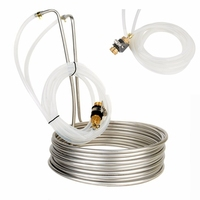 Mayitr Stainless Steel Immersion Wort Chiller Cooler Elevated Coils Home Brew Beer Tools With 2m Silicone