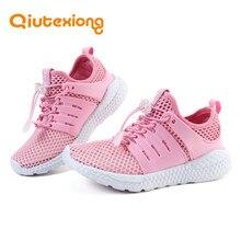 QIUTEXIONG Kids Sport Shoes Children Sneakers Girls Casual Shoe Boy Lightweight Flexible Anti-Slippery Outdoor Running Shoe 2018