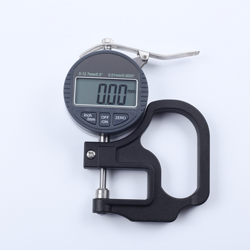 0.01mm Dial Electronic Thickness Gauge 0-0.12.7mm Portable Digital Dial Thickness Meter High Accuracy10mm*0.01 & Data Output