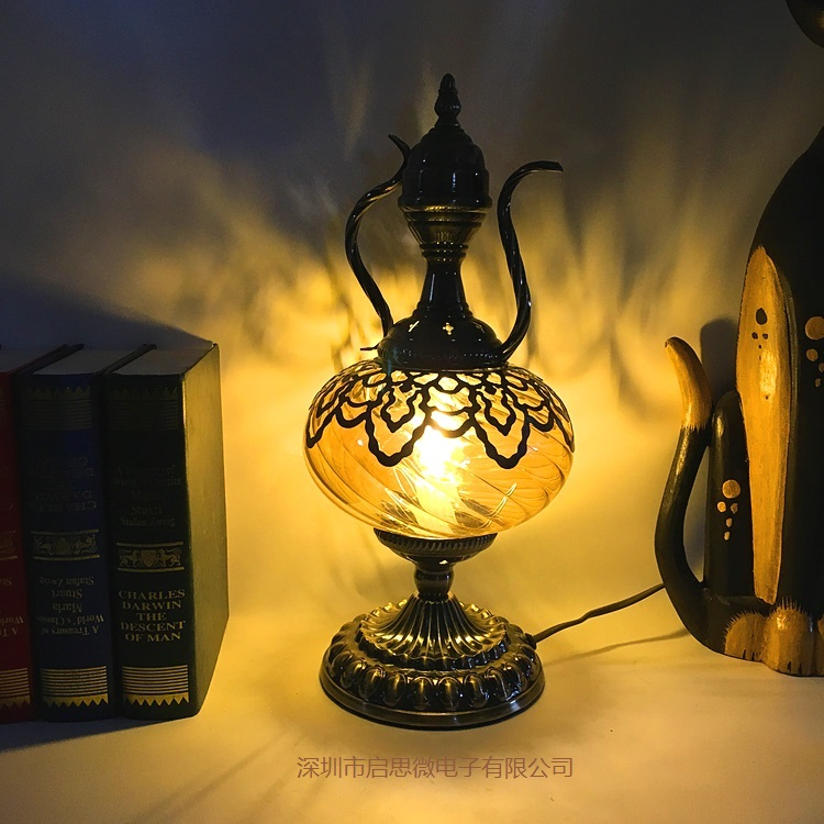 New Mediterranean style Art Deco Turkish Coffee table lamp Desk lamp Glass romantic Light book lampe
