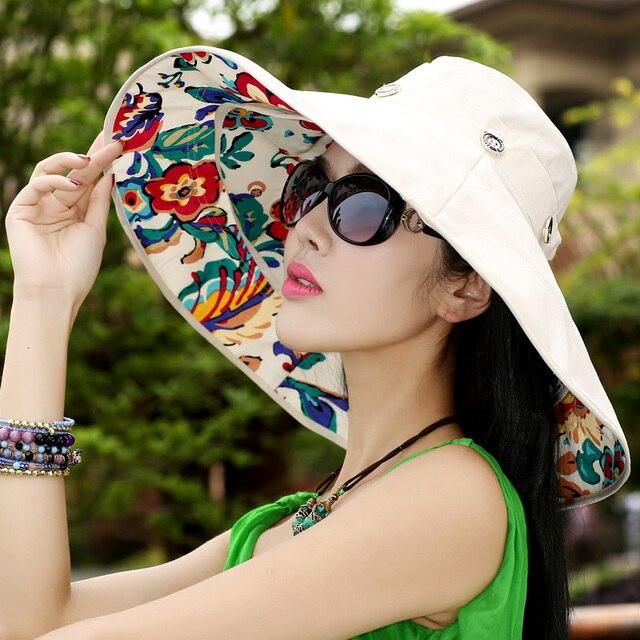 2016 Nueva Primavera y el Verano de la Nueva Llegada Anti-Ultravioleta Sunbonnet Del Sombrero Del Sol Sombrero para el Sol Sombrero de Doble Capa Sombrero Grande Travelling B-2260