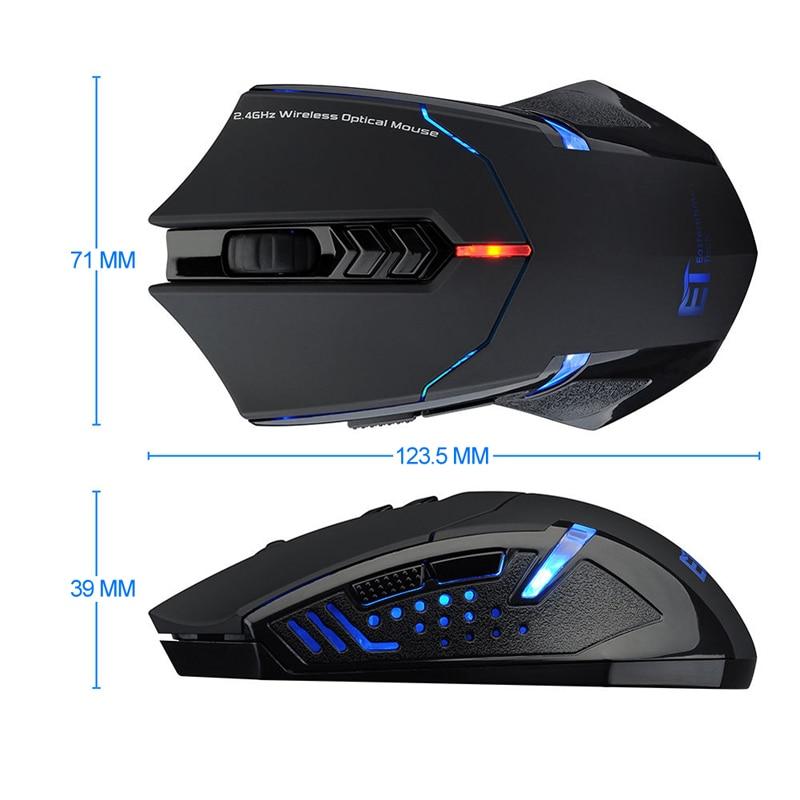 Profesjonalna mysz bezprzewodowa 2000DPI Regulowane 7 przycisków - Peryferia komputerowe - Zdjęcie 5