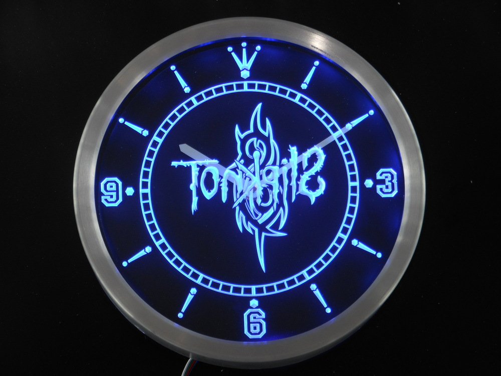 Nc0152 Slipknot Bande Logo Rock n Roll Enseigne Au Néon mur LED Horloge