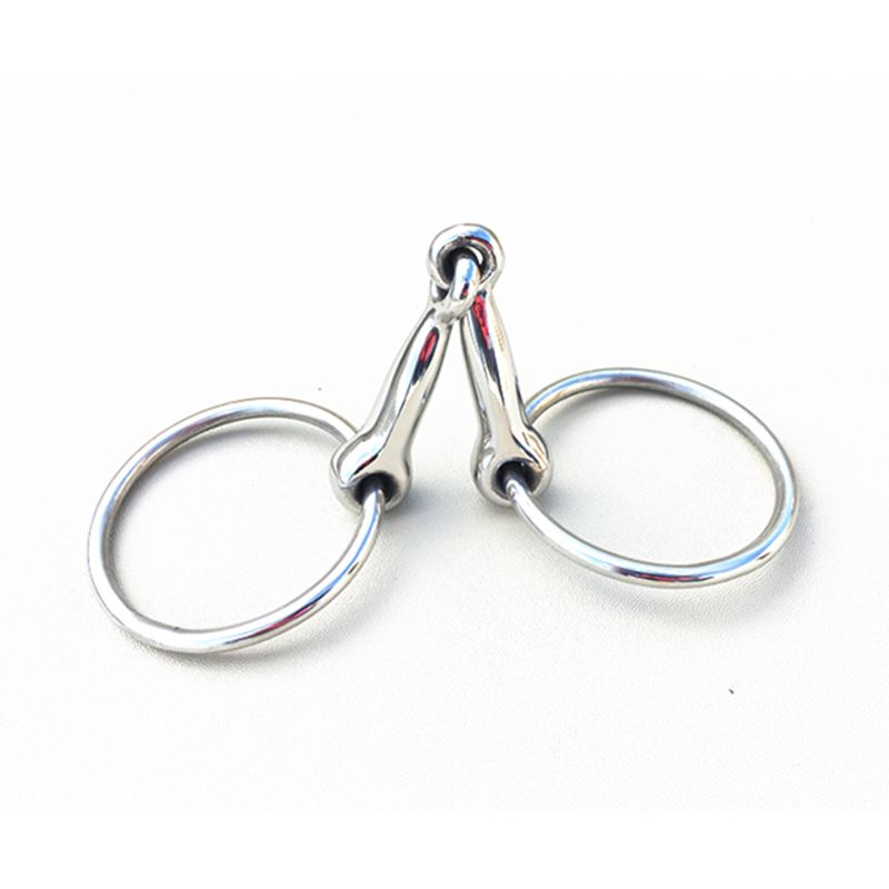 Stainless Steel Ring  Snaffle Bit  11cm Mouthpiece Pony's Bit Horse Equipment