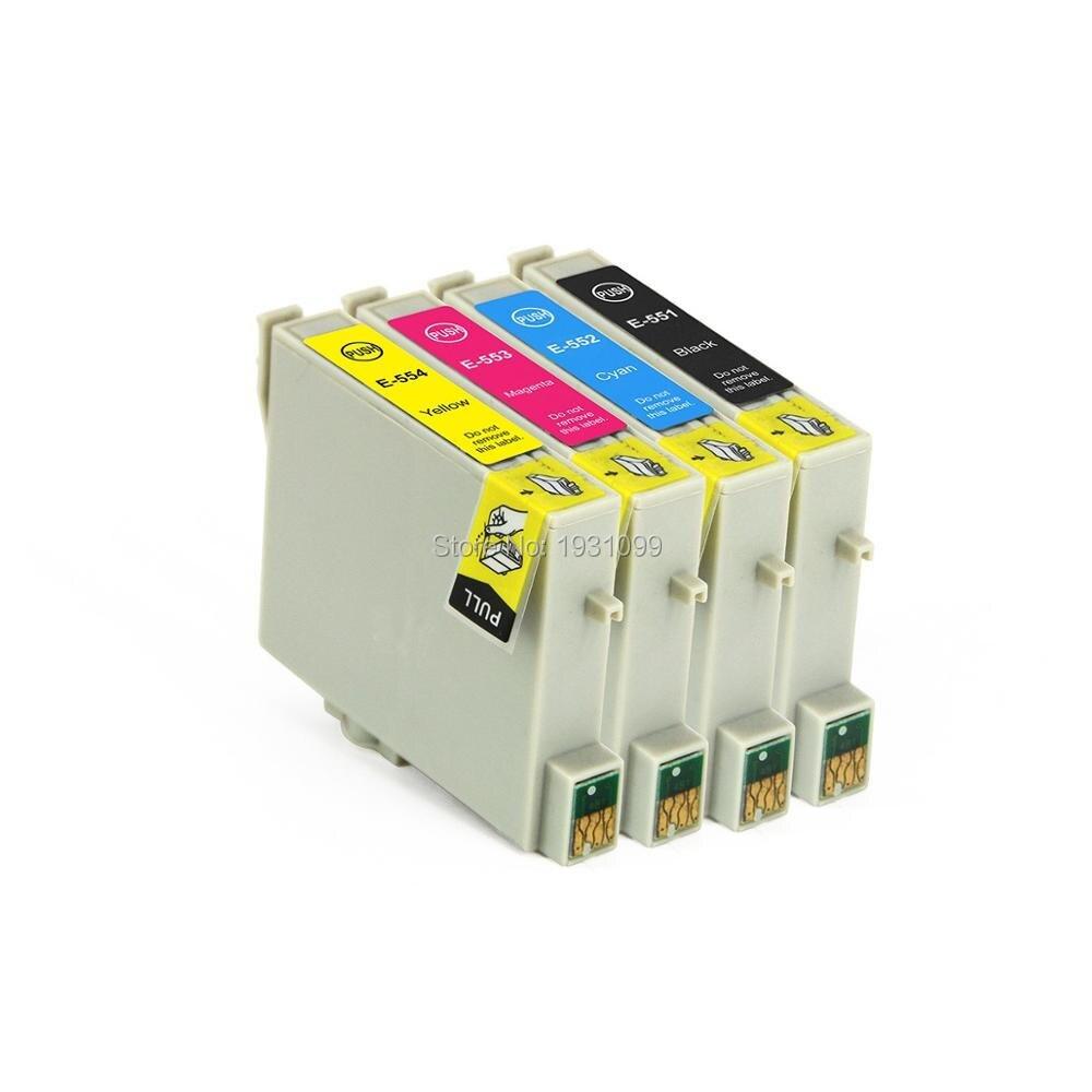 Kompatible patrone für epson t0551 t0552 t0553 t0554 für epson stylus photo...