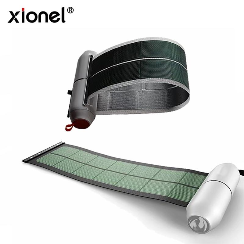 Xionel Enroulable Flexible Portable Solaire Panneau Chargeur Rechargeable Solaire Power Bank Chargeur