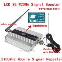 3g UMTS 2100 мГц WCDMA ЖК-дисплей Ретранслятор Набор сотовый телефон мобильный усилитель сигнала с внутренней и наружной антенны 500 квадратных метр...
