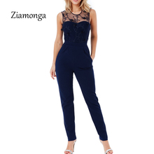 a63c0afa1 Ziamonga Sexy Officewear Bodycon Pants Women Spring Casual Ladies One Piece  Outfits