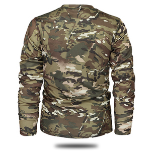 Image 5 - Mege Brand Clothing New Autumn Spring Men Long Sleeve Tactical Camouflage T shirt camisa masculina Quick Dry Military Army shirt