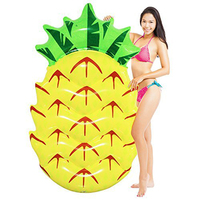 Inflatable Pineapple Pool Float Mattress Swimming Ring Boat Adult Kid Floating Island Buoy Water Fun Toy Piscina Party Beach Bed