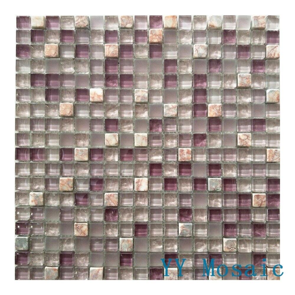 Luxus Lila achat Stein glasmosaik wandfliese YY 66 küche aufkantung ...
