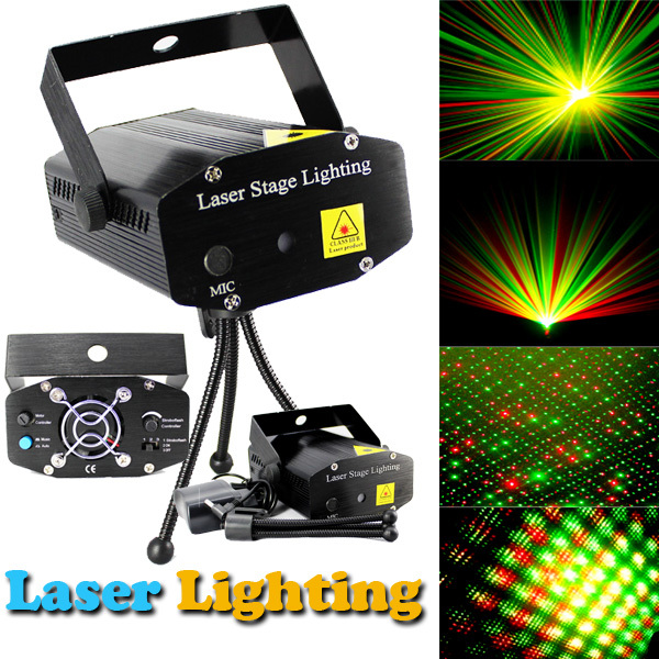xtf2015 Wholesale Laser 10PCS Black New Mini Projector DJ Disco Light Stage Xmas Party Chrismas Lighting Show,Free&Drop Shipping rg mini 3 lens 24 patterns led laser projector stage lighting effect 3w blue for dj disco party club laser