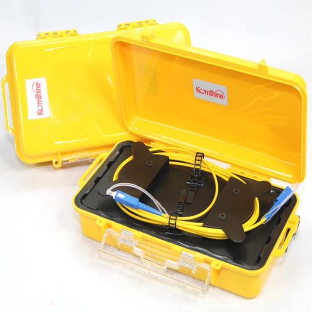 SC UPC Monomodo 9/125um 1310/1550nm 1 KM OTDR lançamento caixa de cabo, anel de fibra cabo otdr lançamento, lançamento de cabos De Fibra óptica