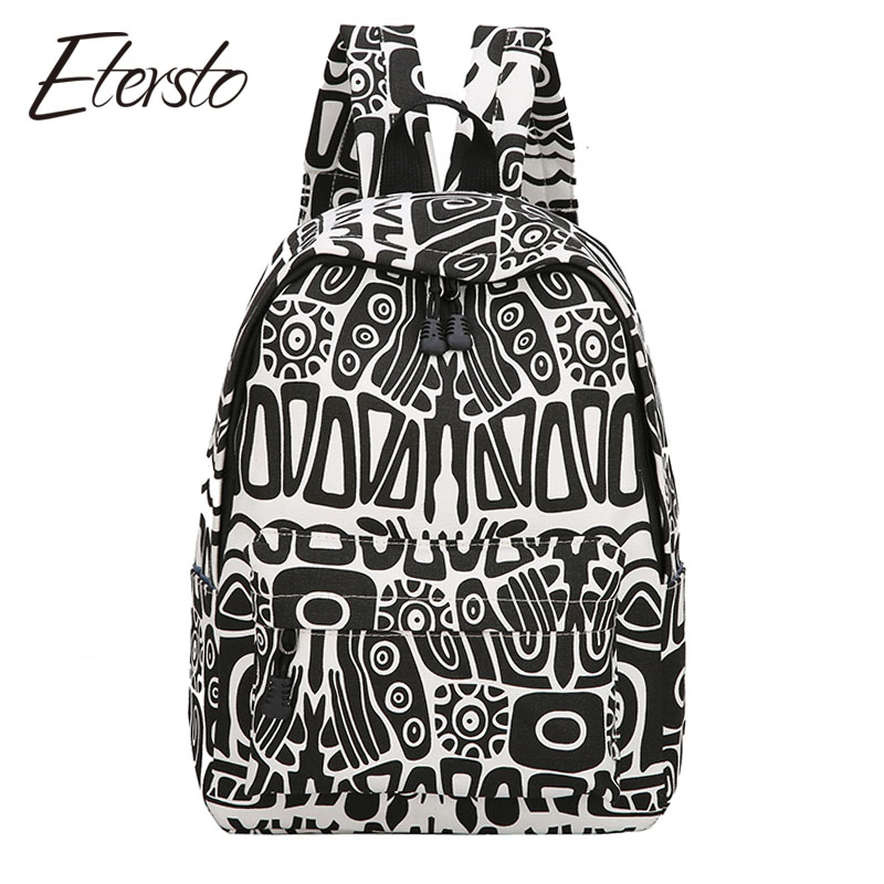 Etersto 2017 Student Backpacks Women Bags For Teenagers Girls Fashion Female Multicolor Backpack High Quality Designer