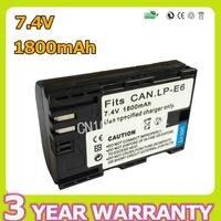 7 4V 1800mAh LP E6 LP E6 LPE6 Camera Battery For Canon EOS 5D Mark II