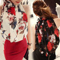2016 chiffon top tank M L XL XXL Summer New Women Strap Tank Tops Sleeveless Flower Chiffon Casual T-shirt Vest Crop Tops Camis