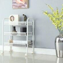 Langria 3 Tier Metal Mesh Rolling Cart Multifunctional Storage Shelving Rack For Kitchen Bedroom Bathroom
