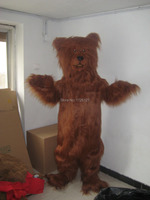 mascot Brown Grizzly Bear Mascot Adult Costume Deluxe Material Custom Bear Mascotte Outfit Suit Fancy Dress