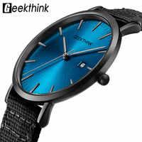 Ultra Thin Men's Watches Quartz Fabric Relojes Simple Analog Japan Quartz Wristwatches Unisex Clock Male Relogios Masculino