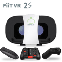 Originele FiitVR 3D 2 S VR bril machine virtual reality wearable VR helm draadloze stereo systeem storm robot systeem 3D doos
