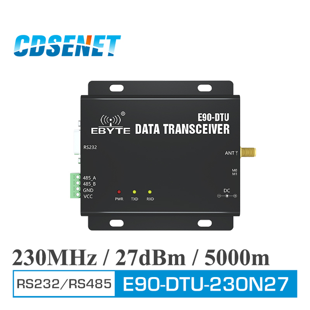 E90 DTU 230N27 Thu Phát Không Dây RS232 RS485 Giao Diện 230MHz 500mW Dài Khoảng Cách 5km Module RF Vô Tuyến Modem