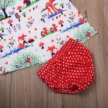Baby Girl Cartoon Dress Dot Shorts Outfits Clothes sets