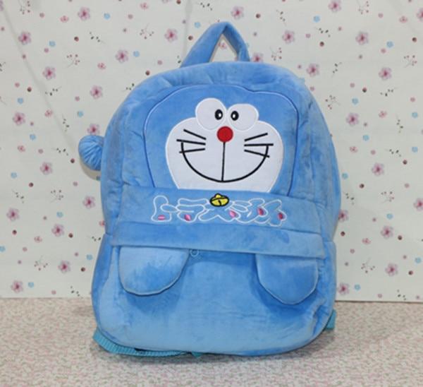 b3e730253e478 35*28 cm doraemon peluş sırt çantası, doraemon okul çantası, çocuklar için  doraemon peluş omuz çantası