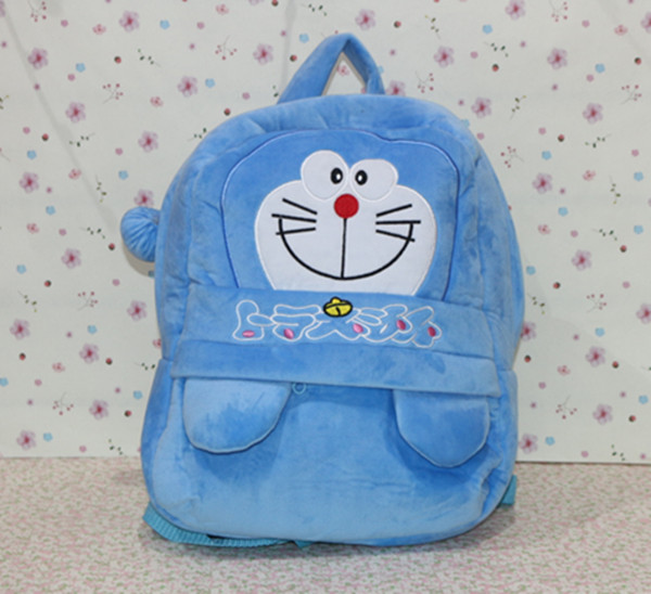 35*28cm doraemon plush backpack, doraemon school bag, doraemon plush shoulder bag for children