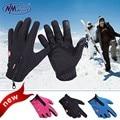 2017 Esportes Homens E Mulheres de Esqui Luvas De Trabajo Montando luvas de Dedos Completos de Toque Não-deslizamento À Prova D' Água À Prova de Vento Quente de Lã Luvas de frio