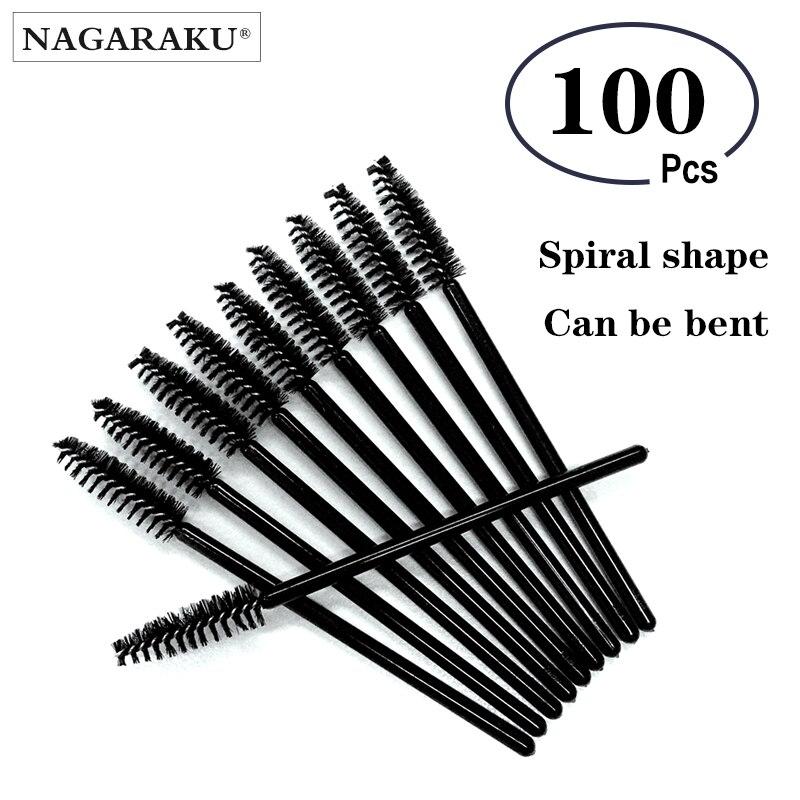 NAGARAKU Wholesale 100pcs Mascara Eyelash Make Up Brush ,Disposable Mascara Wand ,Mascara wand brushes