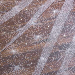 Image 4 - Một Lớp Nữ Trắng Kéo Dài Cưới Mạng Che Mặt Đồ Đi Biển Xịt Lấp Lánh Kim Cương Giả Cắt Viền Sang Trọng Bầu Trời Đầy Sao Cô Dâu Vân