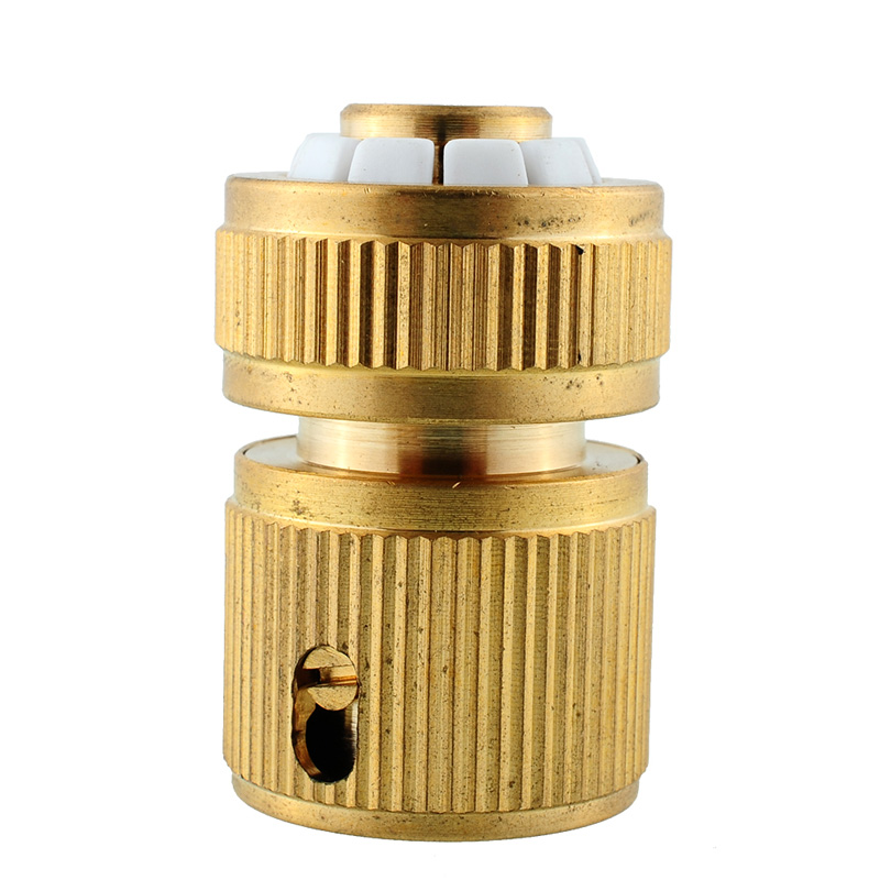 1pcs Brass Hose Tube Adapter Quick Connect Fitting Pipe Connector For Garden Home Garden Water Pipe Tap