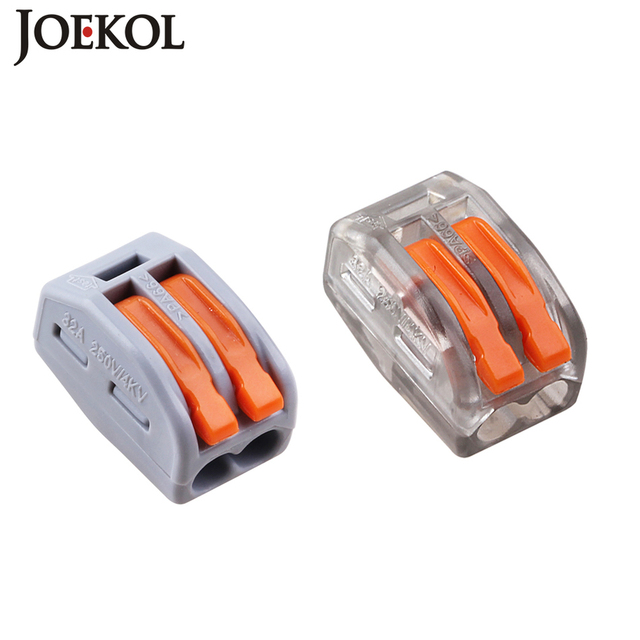 (100pcs/lot) mini fast WAGO Connector 222-412(PCT212) Universal Compact Wire Wiring Connector 2 pin Conductor Terminal Block