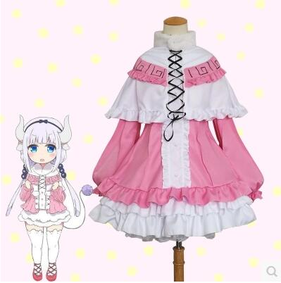 New Anime Kobayashi san Chi no Maid Dragon Cosplay Costumes Miss Kobayashi s Dragon Maid Kanna