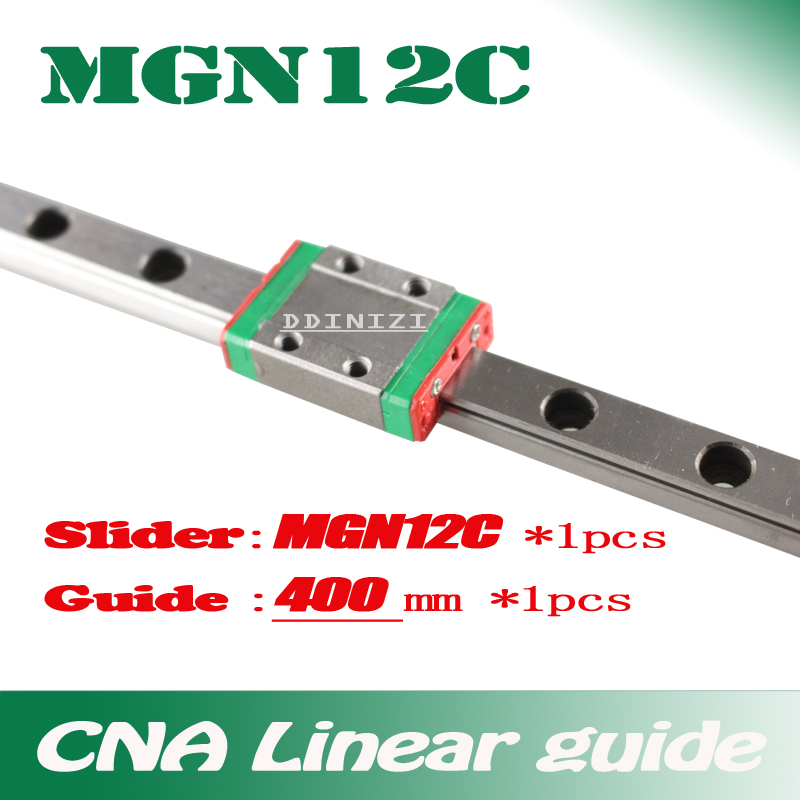 Kossel Mini for 12mm Linear Guide MGN12 L 400mm linear rail + MGN12C Long linear carriage for CNC X Y Z Axis 3d printer part