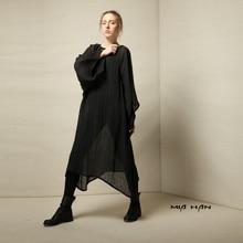LYNETTE'S CHINOISERIE Original design 2016 autumn new arrival fluid carbasus shirt o-neck obscenely full dress