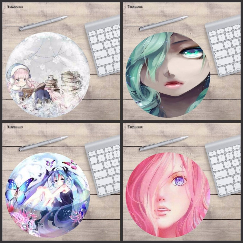 Yuzuoan 20X20CM And 22x22cm Office Mouse pad Game Gamer Gaming Round Mousepad Keyboard mat Compute Cute Japan Anime Girl Cup Pad