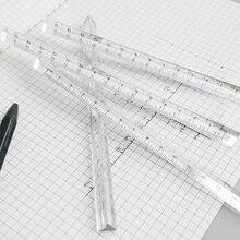 15 см Прозрачные прямые линейки студенческие канцелярские простые треугольные линейки детские весы с обеих сторон акриловые измерительные инструменты