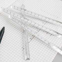 15 см прозрачная линейка прямая студенты канцелярские простой треугольные линейки детские весы обеих сторон акрил измерительные